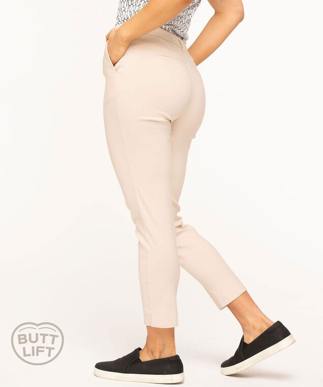 Butt Lift Slim Ankle Pant, Stone