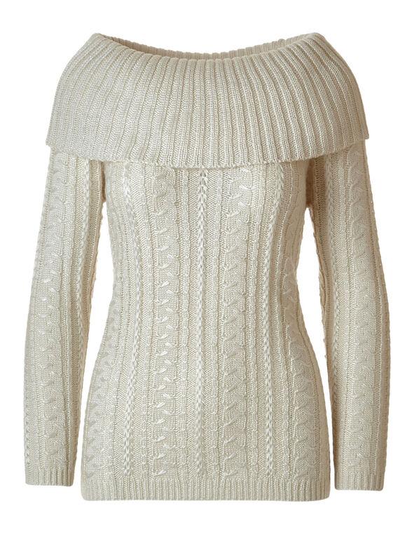 Oat Marilyn Novelty Stitch Sweater, Oat, hi-res