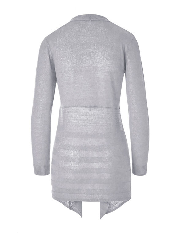 Light Grey Waterfall Cardigan, Light Grey, hi-res