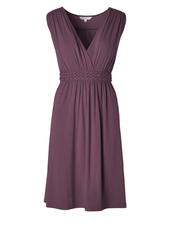 Purple Fit & Flare Dress, Purple, hi-res