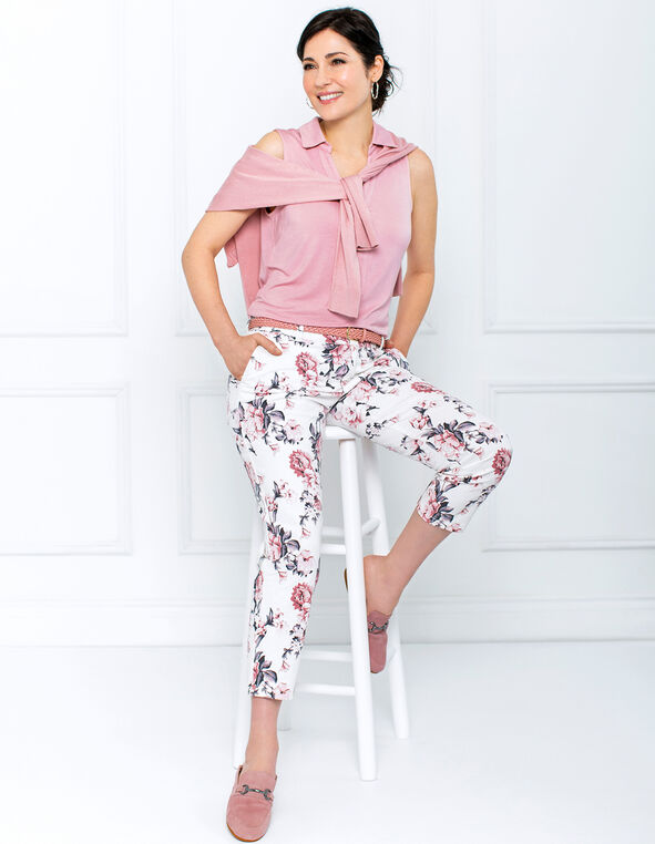Floral Chino Pant Look, , hi-res
