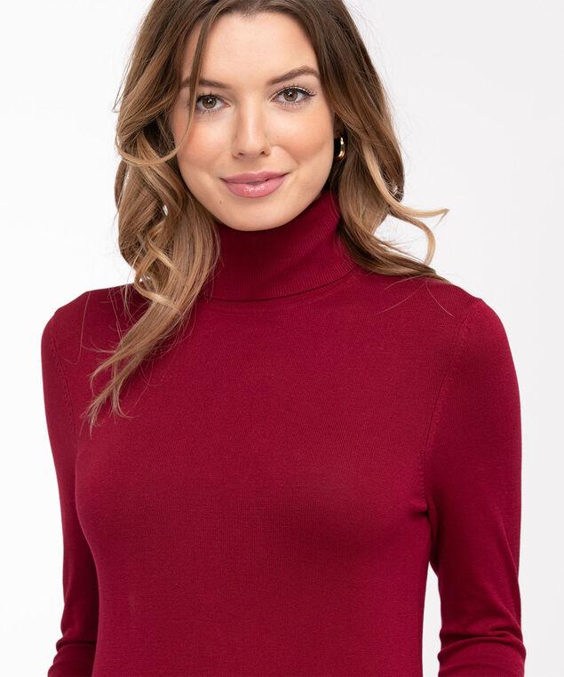 Low Impact Turtleneck Sweater, Berry