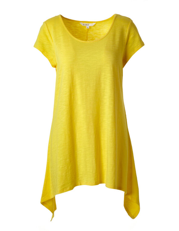 Yellow Sharkbite Tunic Top, Yellow, hi-res