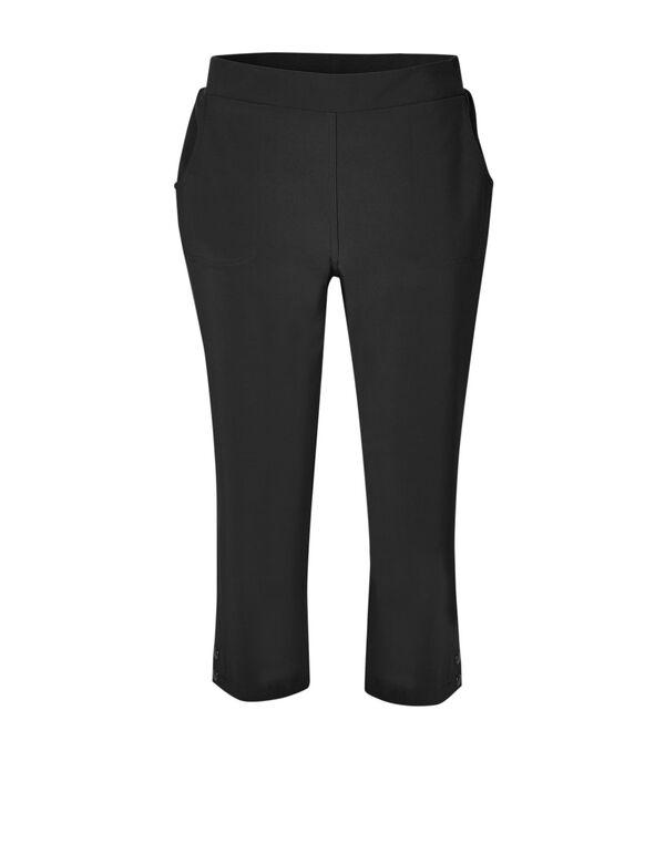 Black Soft Crop Pull On Pant, Black, hi-res