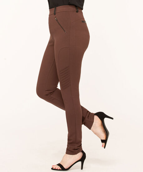 Brown Moto Style Legging, Md Brown, hi-res