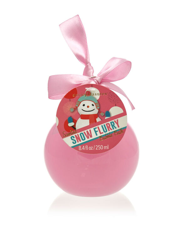 Snow Flurry Bubble Bath Ornament, Pink, hi-res
