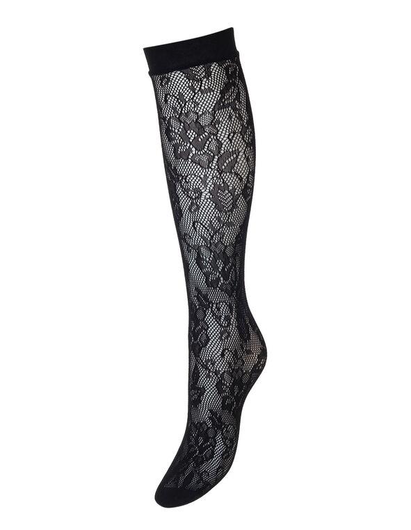 Patterned Trouser Socks, Black, hi-res