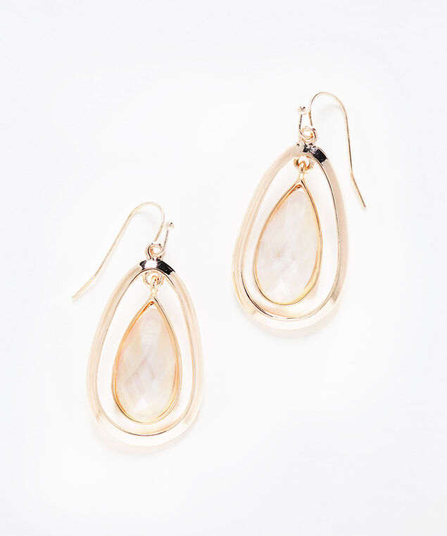 Stone Teardrop Rose Gold Earring, Rose Gold, hi-res
