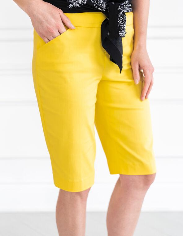 Yellow Pull On Short, Yellow, hi-res