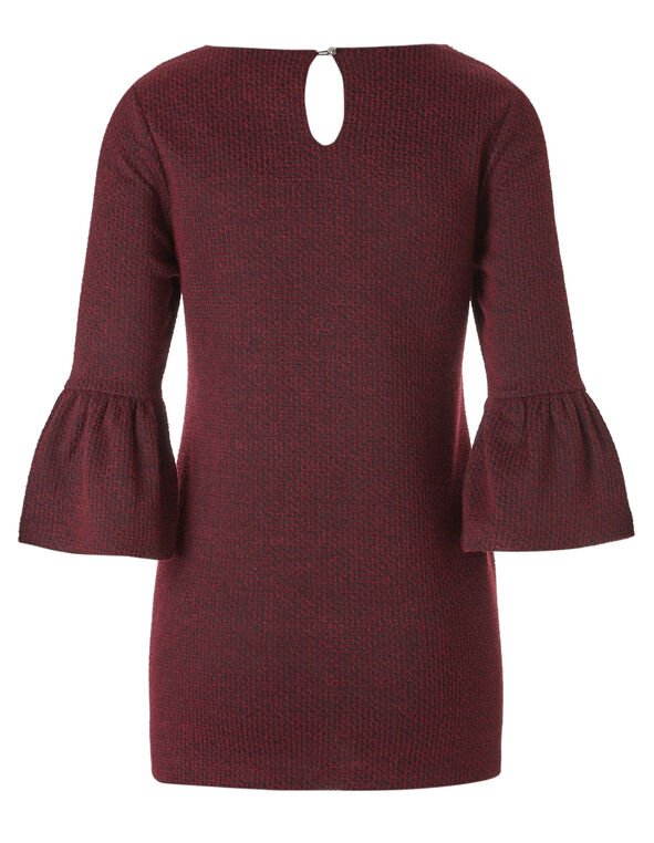 Burgundy Mix Tunic Top, Burgundy, hi-res
