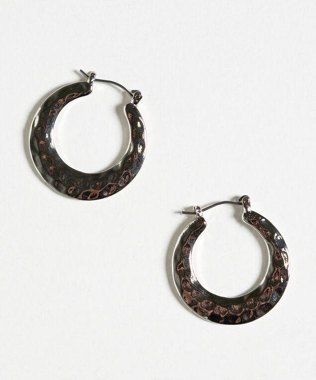 Silver Flat Hoop Earring, Silver