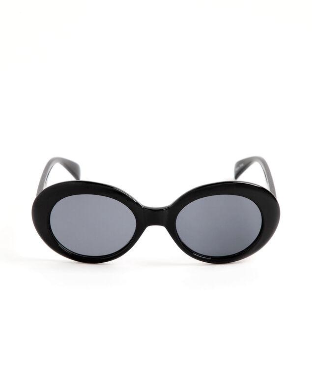Round Black Sunglasses, Black