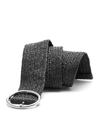 Stretch Braided Belt, Black, hi-res