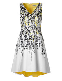 Yellow Floral Dress With Pockets