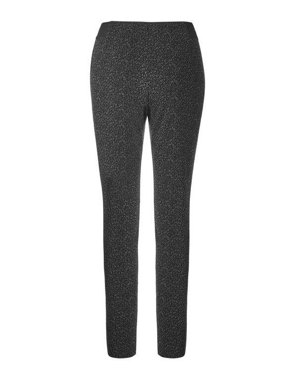Animal Print Pull on Legging, Black/Grey, hi-res