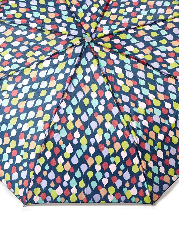 Rain Drop Travel Umbrella, Navy, hi-res
