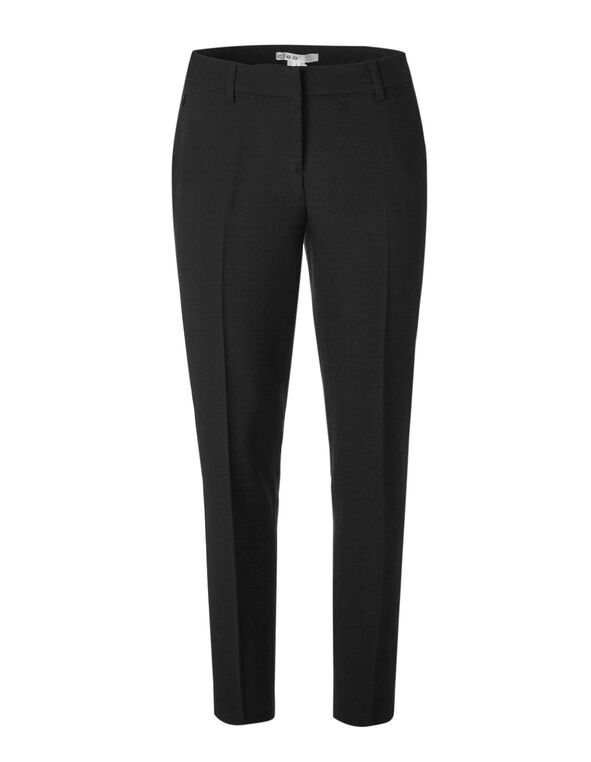 Black Slim Leg Pant, Black, hi-res