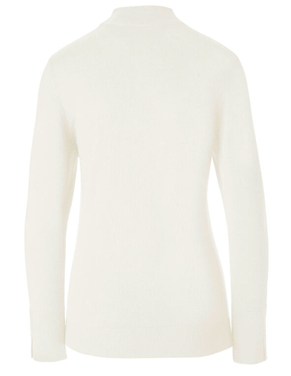 Oat Mock Neck Sweater, Oat, hi-res