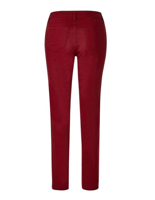 Red Slim Leg Jean, Red, hi-res
