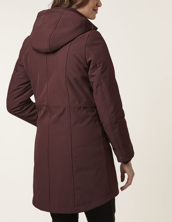 Merlot Soft Shell Anorak Coat, Merlot, hi-res