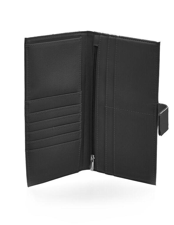 Black Saffiano Travel Wallet, Black, hi-res