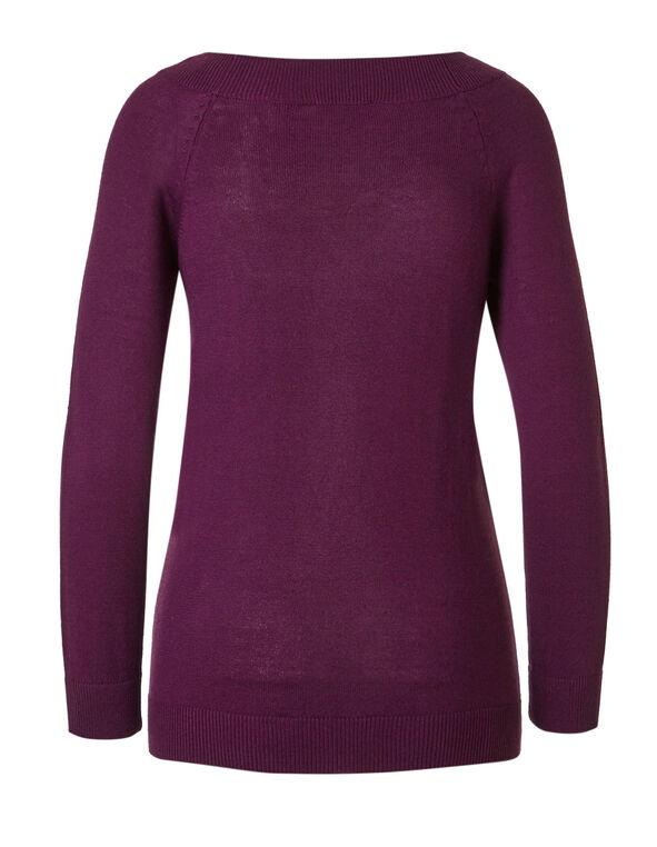 Sangria Raglan Sweater, Sangria, hi-res