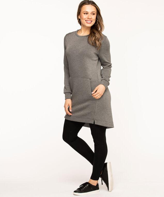Oversized Sweatshirt Dress, Grey