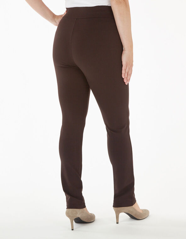 Brown Pull On Legging, Brown, hi-res