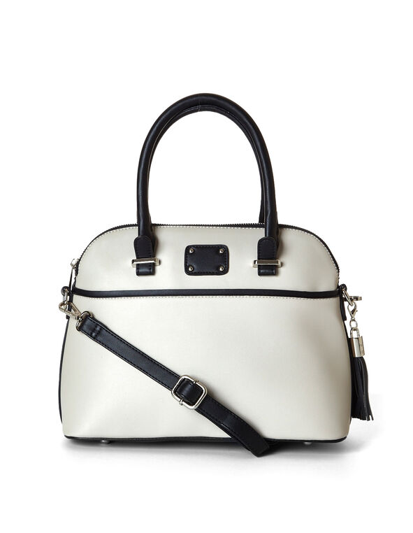 Neutral Blocked Rounded Handbag, Neutral, hi-res