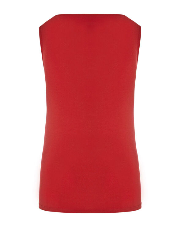 Red Essential Layering Tank, Red, hi-res