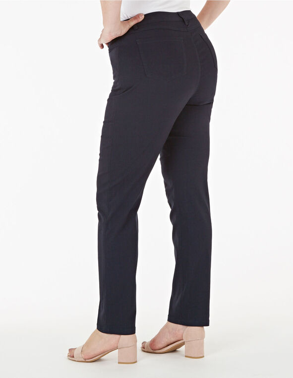 Navy Curvy 5-Pocket Slim Pant, Navy, hi-res
