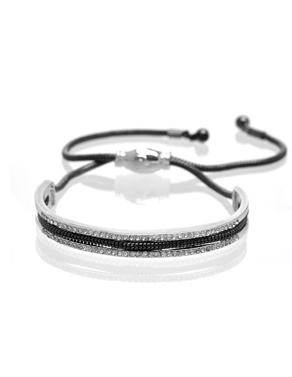 Hematite Adjustable Bracelet, Black, hi-res