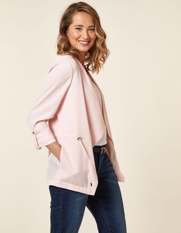 Carnation Pink Drape Jacket, Pink/Carnation, hi-res
