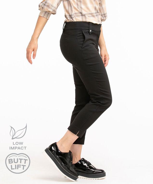 Low Impact Butt Lift Ankle Pant, Black