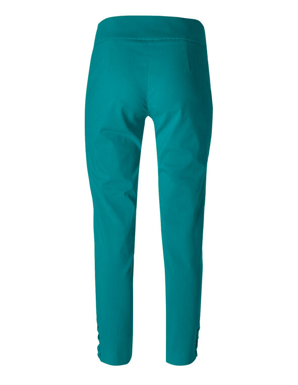 Turquoise Pull On Ankle Pant, Turquoise, hi-res