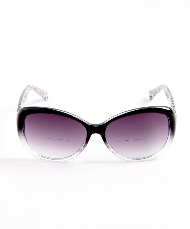Black Ombre Bi-Focal Sunglasses, Black