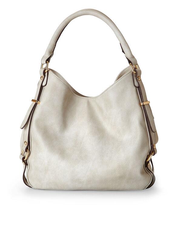 Neutral Hobo Tote Handbag, Neutral, hi-res