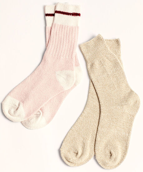 Cozy Work Sock 2-Pack, Ballet Pink/Oatmeal, hi-res
