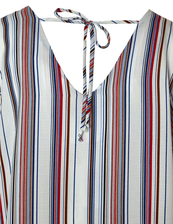 White Striped Blouse, White Pt, hi-res
