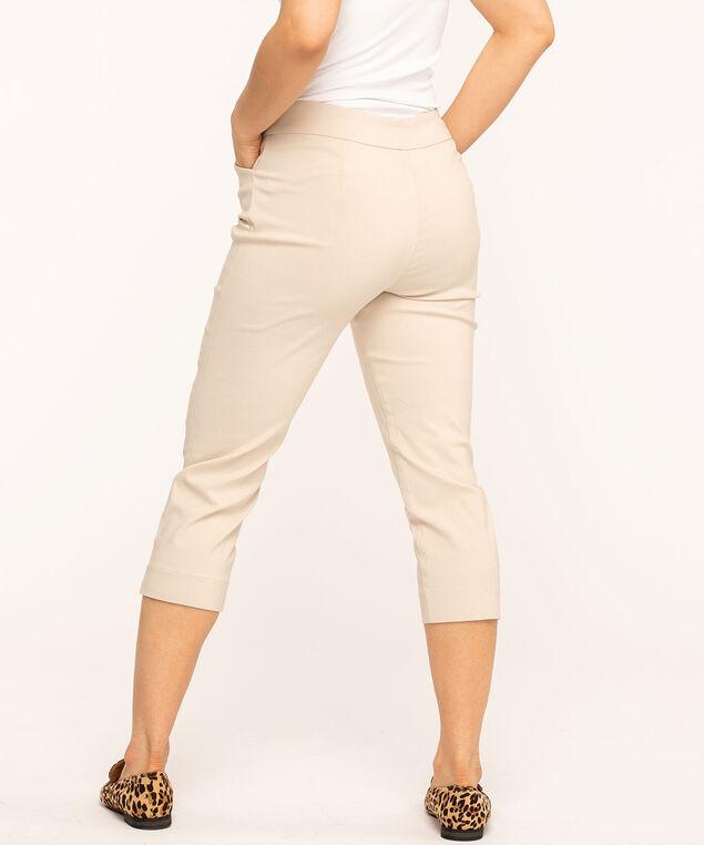 Slim Leg Pull-On Capri, Tan