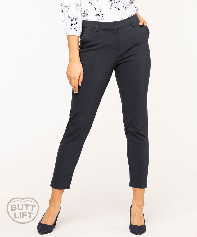 Butt Lift Slim Ankle Pant, Navy