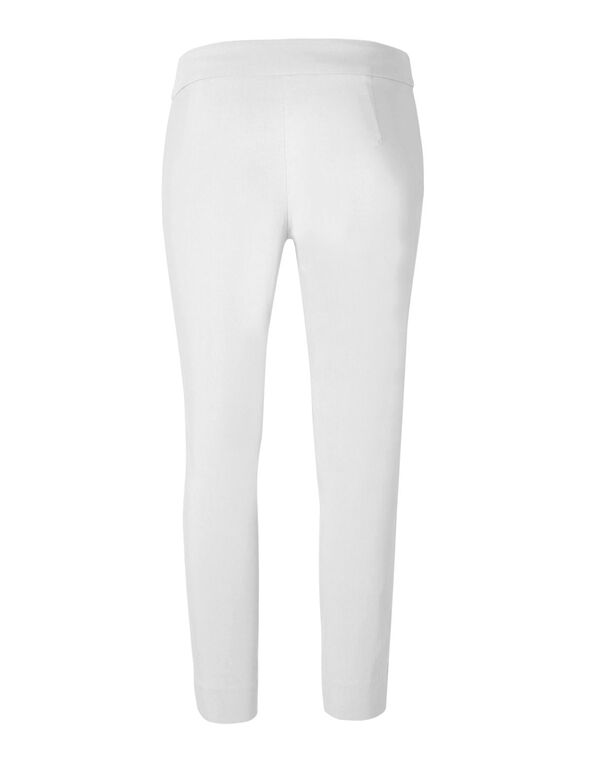 White Ankle Pull On Pant, White, hi-res