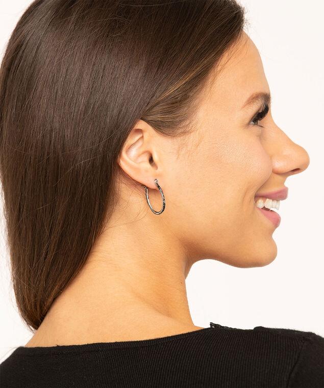 Crystal & Black Pave Earring 6-Pack, Silver/Black, hi-res