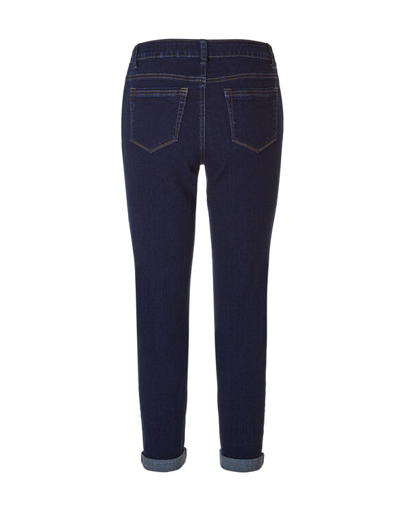 Dark Wash Ankle Jean, Dark Wash, hi-res