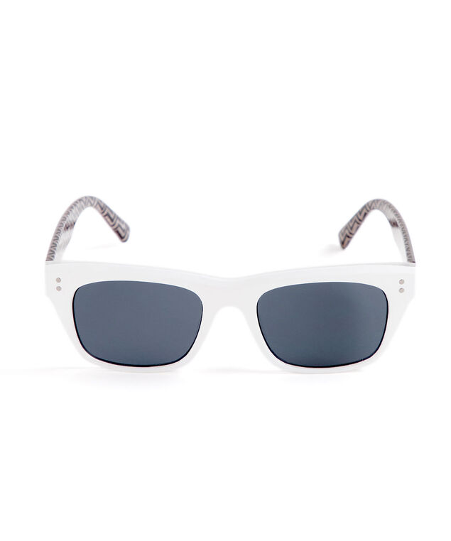 White Rectangular Sunglasses, White