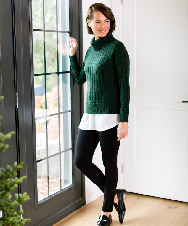 Green Fooler Sweater Look,