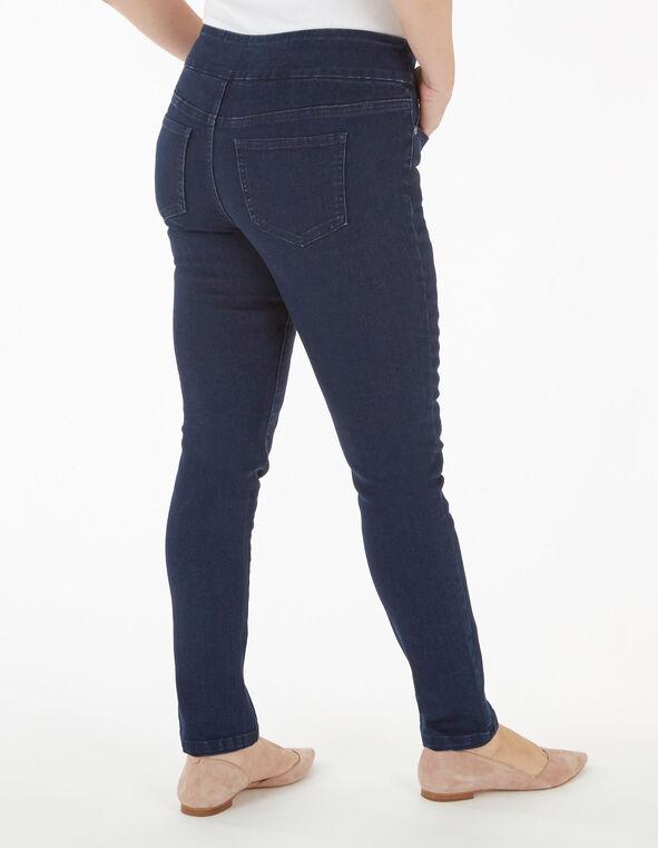 Dark Wash Skinny Leg Pullon Jean, Dark Wash, hi-res