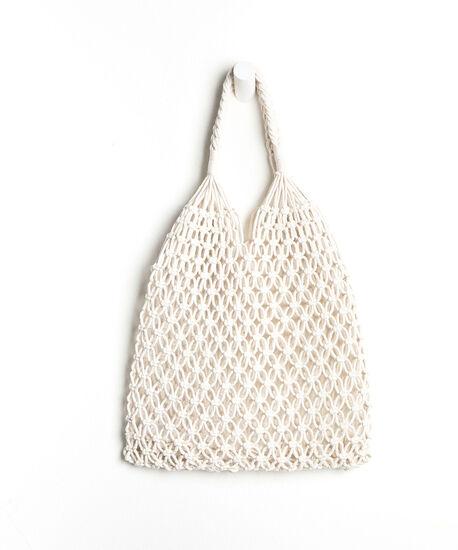 Woven Tote Bag, White, hi-res