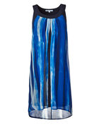 Cobalt Split Front Dress, Cobalt, hi-res