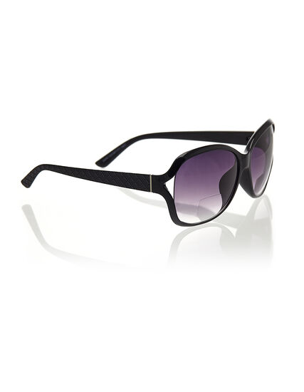 Black Bi-Focal Sunglasses, Black, hi-res